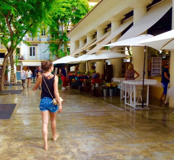 strolling out to the shops in ibiza town